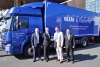 f.l.t.r.: Marco Späth, Martin Kehnen, Steffen Ebert and Stephan Mayer at the delivery of the anniversary vehicle